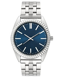 I.N.C. Men's Stainless Steel Bracelet Watch 42mm, Created for Macy's