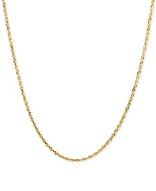 """Glitter Rope 24"""" Chain Necklace in 14k Gold"""