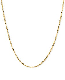 "Glitter Rope 24"" Chain Necklace in 14k Gold"