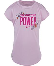Nike Toddler Girls Dri-FIT We Got the Power Graphic T-Shirt