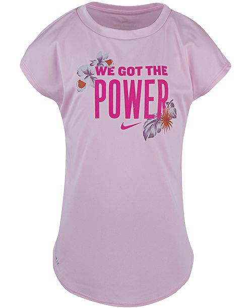 Nike Little Girls Dri-FIT We Got the Power Graphic T-Shirt