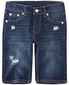 Toddler Girls Distressed Denim Bermuda Shorts