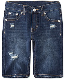 Levi's® Toddler Girls Distressed Denim Bermuda Shorts