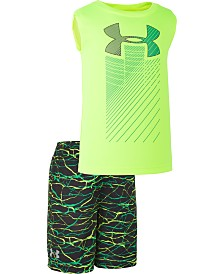 Under Armour Little Boys 2-Pc. Voltage Rising Tank Top & Shorts Set