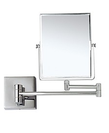 Glimmer Double Face 3x Wall-Mounted Makeup Mirror