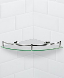 Nameeks General Hotel Corner Glass Shelf With Chrome Mounting
