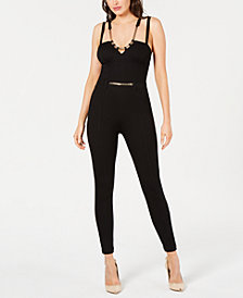 GUESS Chain-Embellished Seam-Detail Jumpsuit