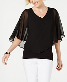 Petite Overlay Top, Created for Macy's