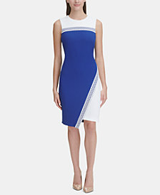 Tommy Hilfiger Asymmetrical Colorblocked Dress