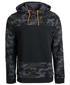 ID Ideology Men's Colorblocked Fleece Hoodie, Created for Macy's