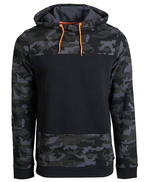 Ideology Men's Colorblocked Fleece Hoodie, Created for Macy's