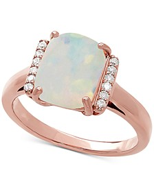 Opal (1-3/4 ct. t.w.) & Diamond Accent Statement Ring in 14k Rose Gold