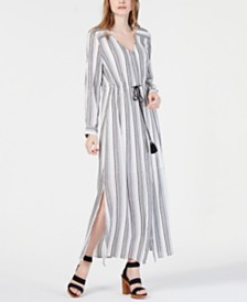 I.N.C. Petite Striped Maxi Dress, Created for Macy's