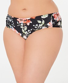 Becca ETC. Plus Size French Valley Hipster Bikini Bottoms