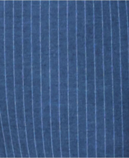 84fb725ed06b Van Heusen Men's Slim-Fit Flex Stretch Wrinkle-Resistant Blue Pinstripe Suit  ...
