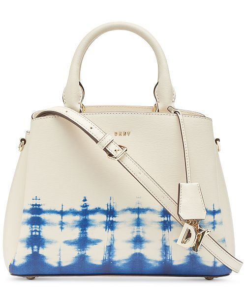 DKNY Paige Leather Tie-Dye Satchel, Created for Macy's