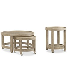 Talulah Table 2-Pc. Set (Cocktail Nesting Table & End Table)