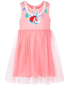 Disney Little Girls Bow-Back Ariel Dress, Created for Macy's