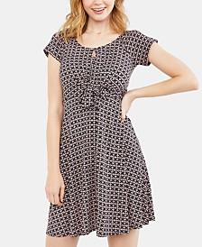 Motherhood Maternity Printed Nursing Dress