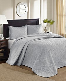 Quebec 3-Piece King Quilted Bedspread Set