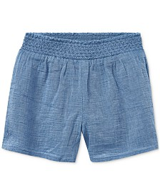 Polo Ralph Lauren Toddler Girls Smocked Cotton Chambray Shorts