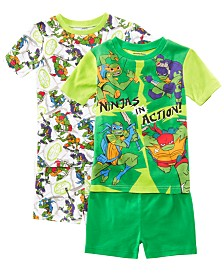 AME Little & Big Boys 2-Pack Ninja Turtles Graphic Cotton Pajamas