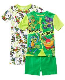 AME Little & Big Boys 2-Pack Ninja Turtles Graphic Cotton Pajamas