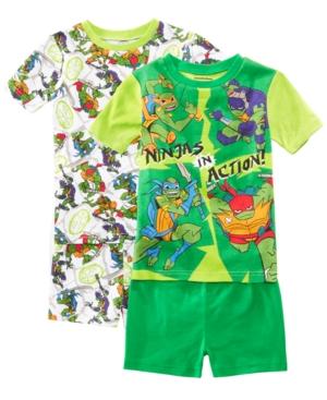Image of Ame Little & Big Boys 2-Pack Ninja Turtles Graphic Cotton Pajamas