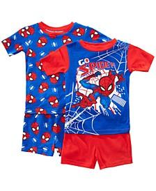 Little & Big Boys 2-Pack Spider-Man Graphic Cotton Pajamas