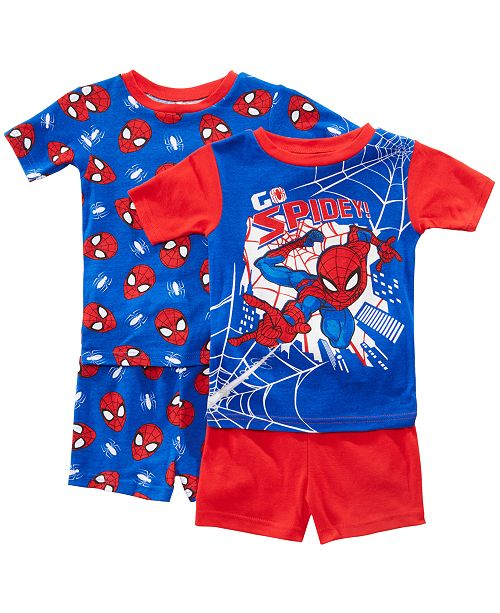 AME Little & Big Boys 2-Pack Spider-Man Graphic Cotton Pajamas
