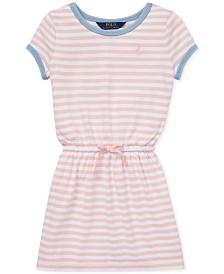 Polo Ralph Lauren Little Girls Striped Cotton Jersey T-Shirt Dress