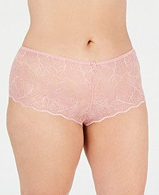 INC Women's Plus Size Lace Boyshort, Created for Macy's