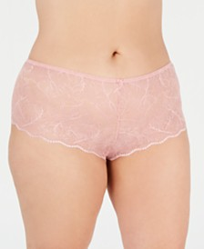 I.N.C. Women's Plus Size Lace Boyshort, Created for Macy's