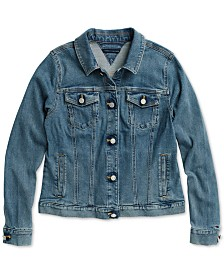 Tommy Hilfiger Adaptive Women's Classic Mary Denim Jacket with Magnetic Closures