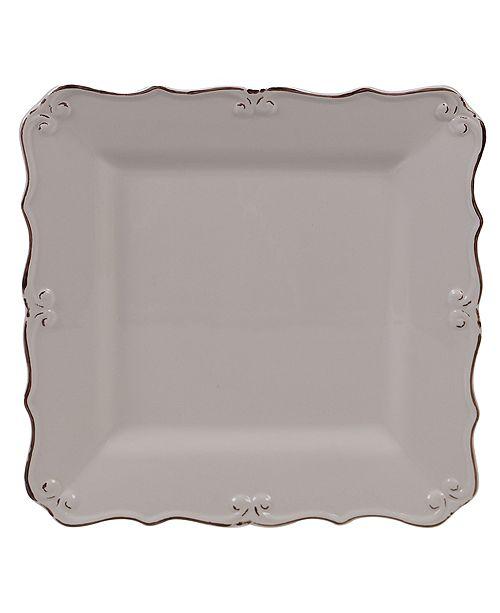 Certified International Vintage Cream Square Platter