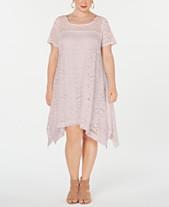 5bb71a577c6 Robbie Bee Plus Size Lace Trapeze Dress