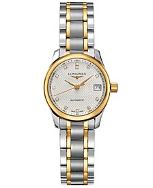Women's Swiss Automatic Master Diamond Accent 18k Gold and Stainless Steel Bracelet Watch 26mm L21285777