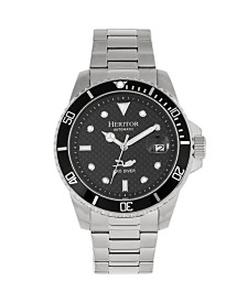 Heritor Automatic Lucius Black Dial, Stainless Steel Watch 40mm