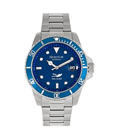 Heritor Automatic Lucius Blue Dial, Stainless Steel Watch 40mm