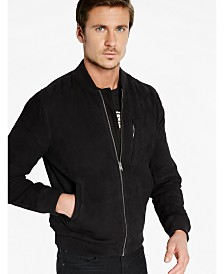 Lucky Brand Men's Suede Bomber Jacket