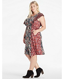 Plus Mixed Floral Dress
