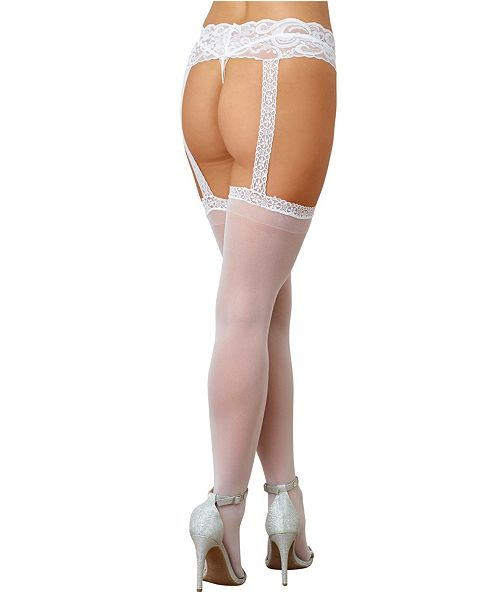 79ac91592 Dreamgirl Plus Size Sheer Suspender Pantyhose   Reviews - Women - Macy s