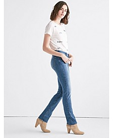 Women's Sweet Mid Rise Straight Jean