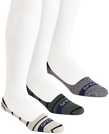 Sperry Men's Socks 3-Pack, Signature Invisible Liner