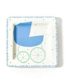 by Laura Johnson Baby Carriage Square Plate