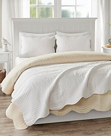 "Tuscany Oversized 60"" x 72"" Quilted Scalloped-Edge Throw"