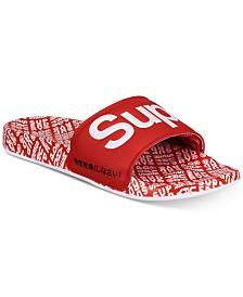 Superdry Men's Allover Print Beach Slide Sandals