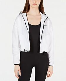 Hooded Graphic Drawstring Jacket