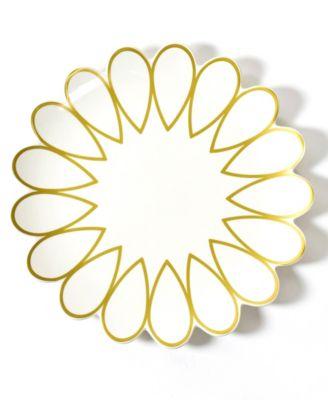 Gold Scallop Edge Platter