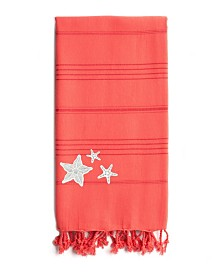 Linum Home Summer Fun Glittery Starfish Pestemal Beach Towel